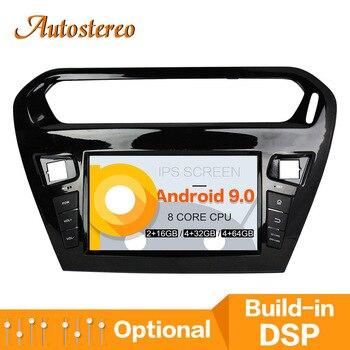 Android 9,0 автомобильный DVD плеер GPS навигационная карта для CITROEN Elysee 2013 2016 PEUGEOT PG 301 головное устройство мультимедийный плеер Радио Лента