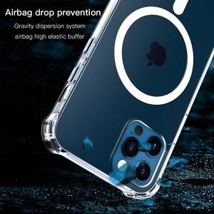 Image 5 - โปร่งใสสำหรับ iPhone 12 Pro Max 12 Mini 11Pro Max Wireless Charger โทรศัพท์แม่เหล็กสำหรับ iPhone XS Max XR XS X กรณี