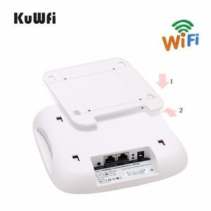 Image 3 - Point daccès sans fil KuWFi pour montage au plafond, routeur Wi Fi AP sans fil double bande avec routeur de plafond mural longue portée 48V POE