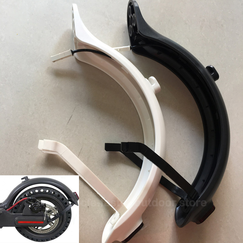 Rear Mudguard Set With LED Tail Lamp Fender Bracket Support Splash Mud Guard for Xiaomi Mi M365 Electric Skateboard Repair Parts