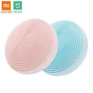 Xiaomi Mijia электрическая Очищающая щетка для лица ультразвуковая скруббер для кожи силиконовый звуковой вибратор очиститель устройство для о...