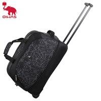 OIWAS Faltbare Gepäck Tasche Reise Duffle trolley Roll Koffer Frauen Männer Reisetaschen Mit Rad Tragen-Auf Tasche gute Qualität