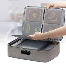 2020 password lock certificate storage bag portable family home multifunctional archive bill account this document bag finishing cheap GALGALYI None Casual Interior Slot Pocket Cell Phone Pocket Interior Zipper Pocket Interior Key Chain Holder Interior Compartment
