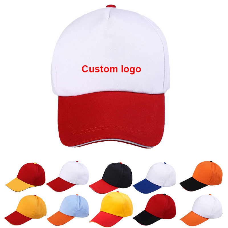 Customized Hat Fashion Color Matching Travel Cap Advertising Cap Work Cap Printing Or Embroidery Logo Cap Visor Baseball Cap