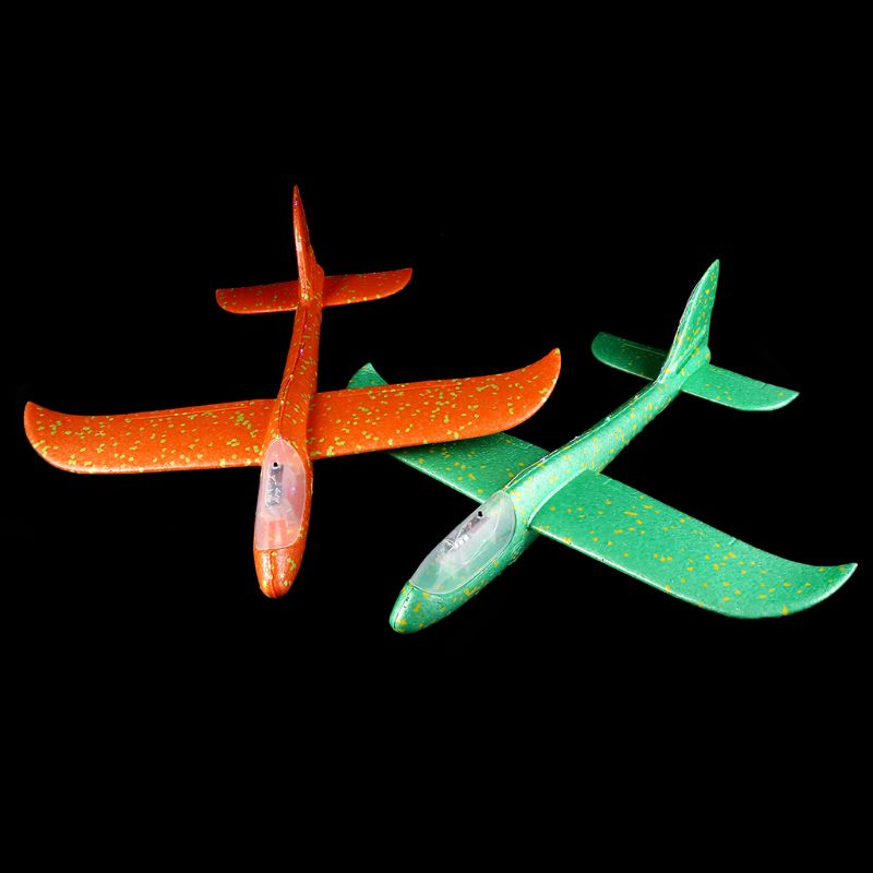 LED Night Airplane Hand Launch Throwing Glider Aircraft Inertial Foam Airplane Toy Plane Model Outdoor Educational Toys R9UE image
