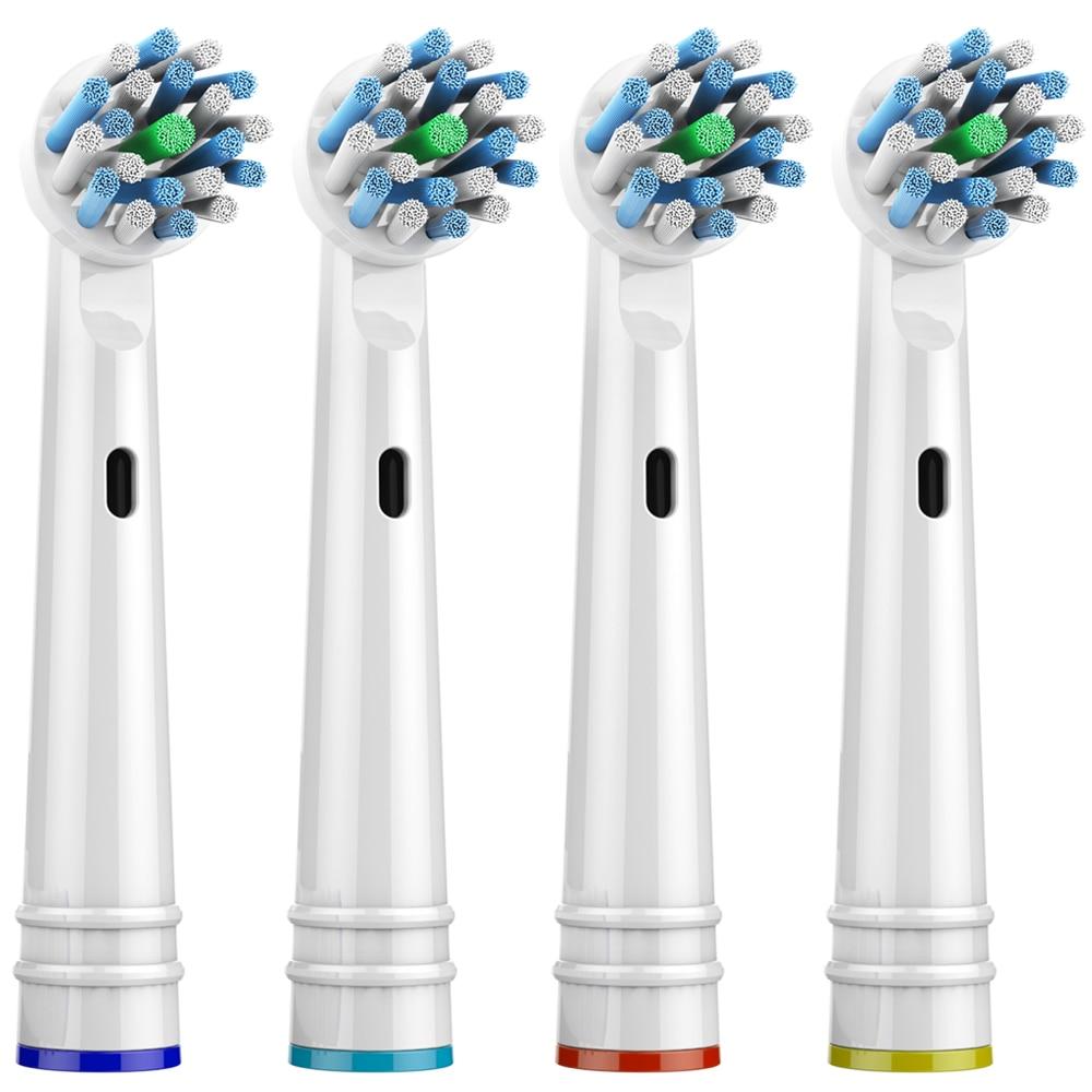 OR-CARE cabezales de cepillo de dientes de repuesto para cabezal de cepillo de dientes Oral B cruzado Compatible con cepillo de dientes Oral B Braun Electirc