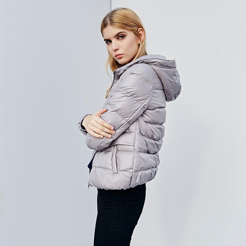 Winter Duck Down Coat Female 90% White Duck Down Jacket Women Clothing Short Parkas Warm Hooded Outwear Jackets LWL1173