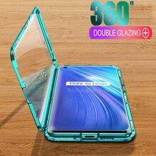 Boîtier en verre Double face magnétique en métal pour Oppo Realme 5 pro Q Coque complète pour Real me 5 pro 5i realme5 pro Coque