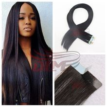 DLME Tape In Hair Extensions Straight Remy Hair Double Drawn Hair Adhesive Skin Weft Hair Invisible Glue On Hair Salon Quality