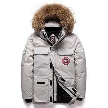 Duck Down Jacket Men Thick Warm Winter Windproof Jacket Men Down Coat Fur Hooded Outerwer Canada Jackets Winter Jacket Women цены онлайн