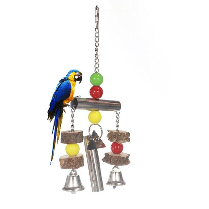 Попугай вертикализатор птица колокола строка игрушка попугай жевать шарик для домашних животных обучение, игры расходные материалы