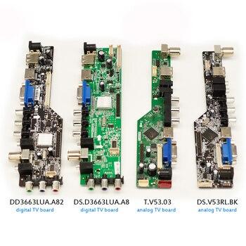 """Placa controladora controlador de TV LCD Universal v53 D3663lua, placa base analógica/digital para TV de 8,9-42 """"lvds 1920x1080 TV/USB/VGA/HDMI"""