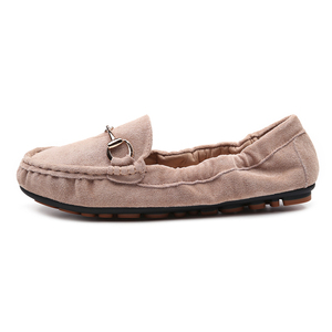 Image 4 - 2020 נעלי בלט דירות נעלי אישה חורף צאן מוצק מוקסינים מוקסינים אפונה בפלאש אגרול דירות הנעלה רך אמא שטוח