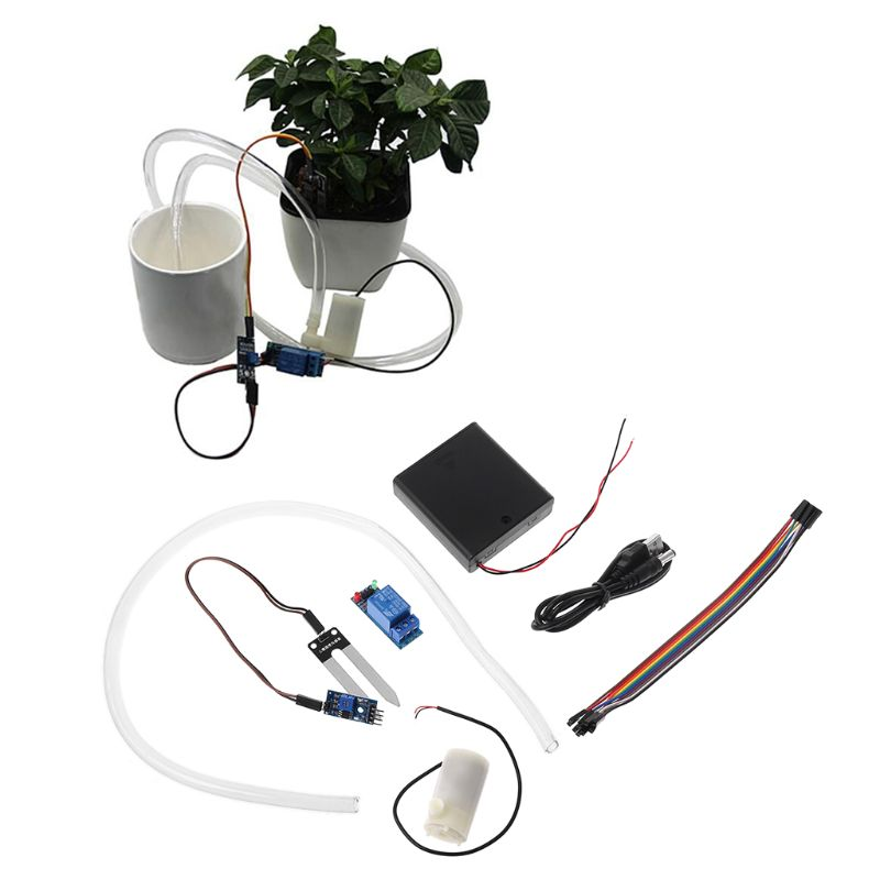 Automatic Irrigation Module DIY Kit Soil Moisture Detection Automatic Water Pumping|Moisture Meters| |  - title=