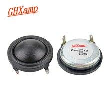 GHXAMP 1.5 인치 37mm 돔 실크 트위터 네오디뮴 25 코어 사운드 흡수 코튼 4Ohm 15W 트레블 스피커 클리어 사운드 스위트 2PCS
