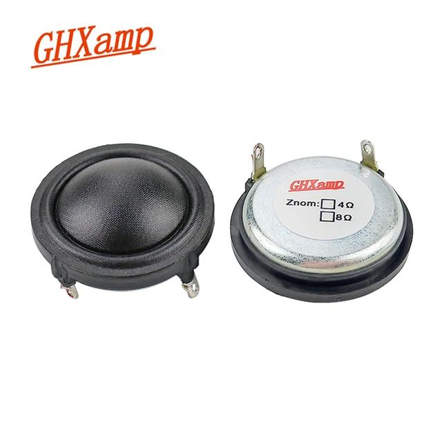 GHXAMP 1.5 inch 37mm Dome Silk Tweeter Neodymium 25 core Sound Absorbing Cotton 4Ohm 15W Treble Speaker Clear Sound Sweet 2PCS
