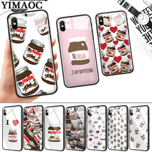 food Chocolate Nutella Glass Phone Case for Apple iPhone 11 Pro XR X XS Max 6 6S 7 8 Plus 5 5S SE
