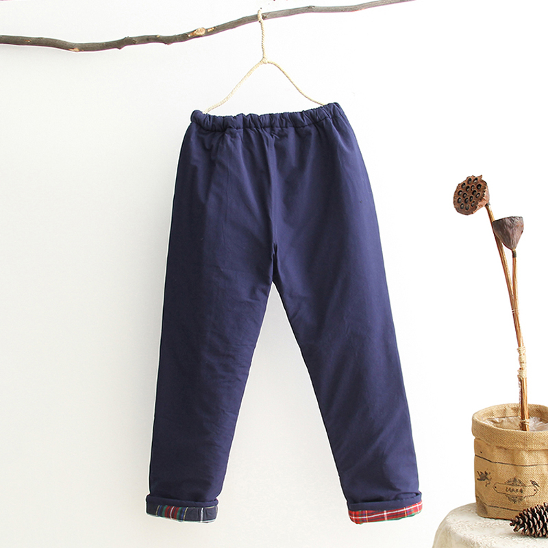 Wu Shu Clothing Winter Thick Warm Long Pants Chinese Traditional Kung Fu Trousers 100% Cotton Loose Pantaloon Plus 4XL  Trousers