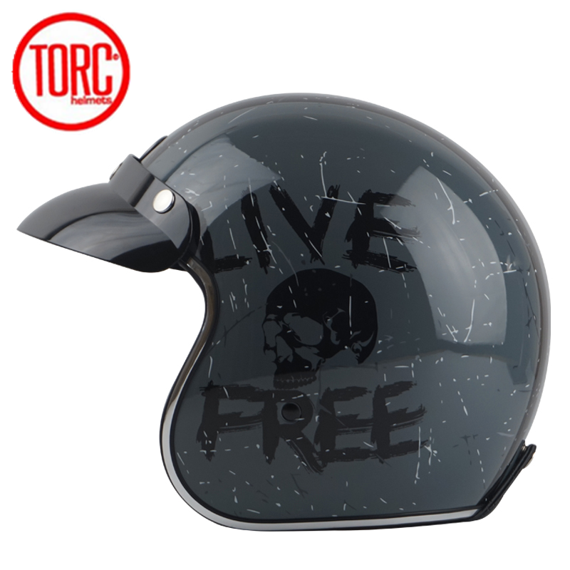 L Size Helmet Matt Black Motorcycle Scooter 3//4 Open Face Off Road Cafe Racer