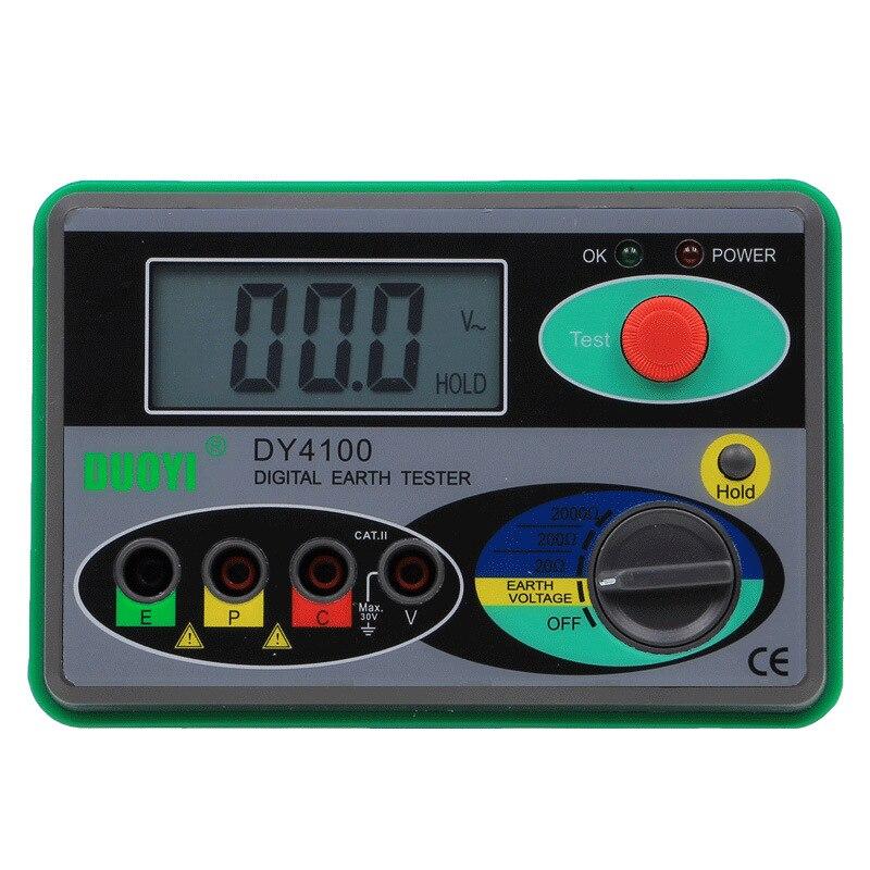 Hot Megohmmeter 0 2000 Digital Earth Tester Ground Resistance Tester Meter Real Digital Tester Digital Earth Ground Resistance Meters     - title=