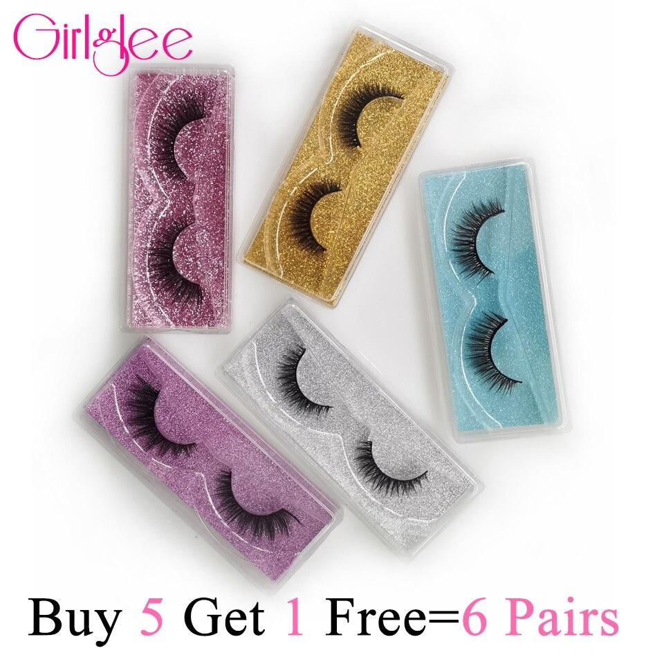 Natürliche 3D Nerz Wimpern 8-14mm Make-Up Wimpern Für Täglichen Tragen Falsche Wimpern Reusable Flauschigen Gefälschte Wimpern Für großhandel Girlglee