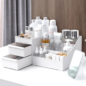 Drawer Storage Cosmetic Makeup Storage Display Holder Makeup Organizer Rack For Creams Makeup Brushes Lipsticks Plastic