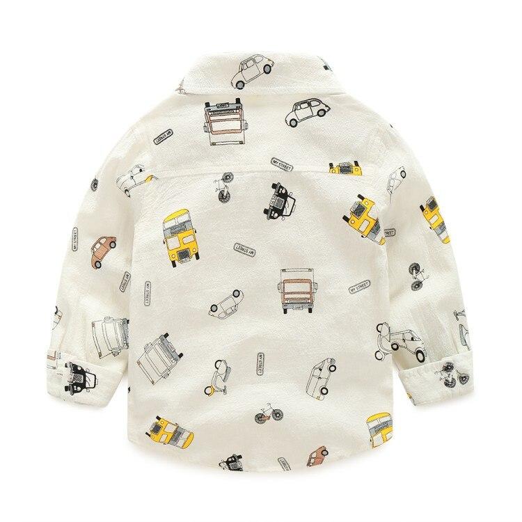 COOTELILI  Cartoon Children Boys Shirt Kid Long Sleeve Car Shirts Child Kids Boys Shirt Tops Blouse Casual Clothes (5)