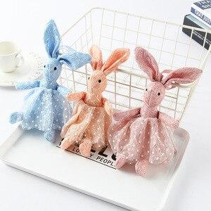 Image 5 - רך בפלאש ארנב צעצועי תינוקות מוביילים רעשנים ילדים באני שינה תינוק בן זוג ממולא בפלאש בעלי החיים צעצועי יילוד Appeaze בובה
