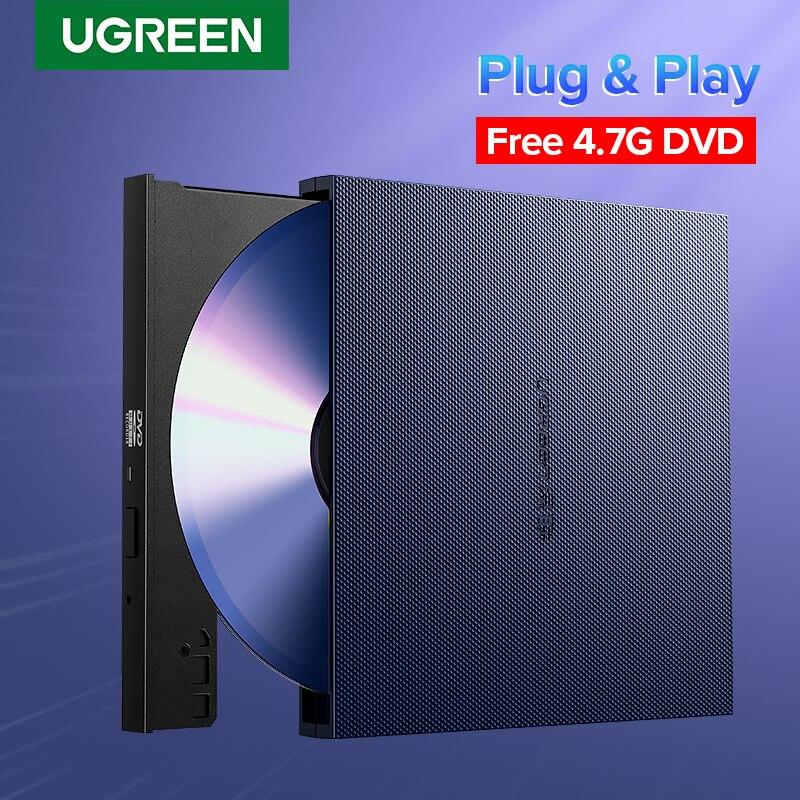 Ugreen USB lecteur optique externe USB 2.0 CD/DVD-ROM Combo DVD RW ROM brûleur pour Dell Lenovo ordinateur portable Windows/Mac OS USB lecteur DVD