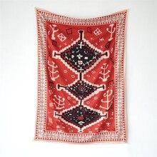 Mandala Tapestry Wall-Carpet Travel-Blanket Yoga-Mat Boho-Decor Moroccan Bohemia Beach