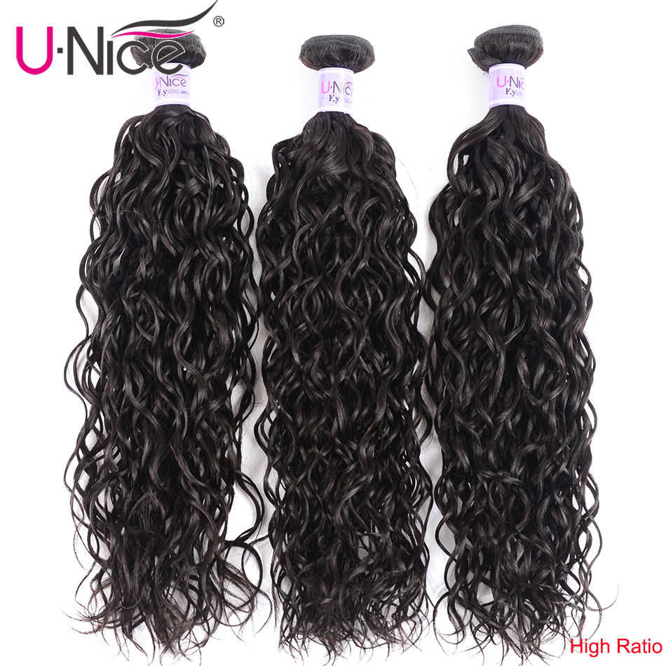 "UNice Hair Kysiss Series Malaysian Water Wave 3 Bundles Unprocessed Human Hair Extension 8-26"" Malaysian Hair Bundles"