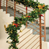 2.7 M Christmas Rattan Garland Decorative Green Christmas 2020 Garland Tree Rattan Hanging Pendant Drop Ornament Home Decoration