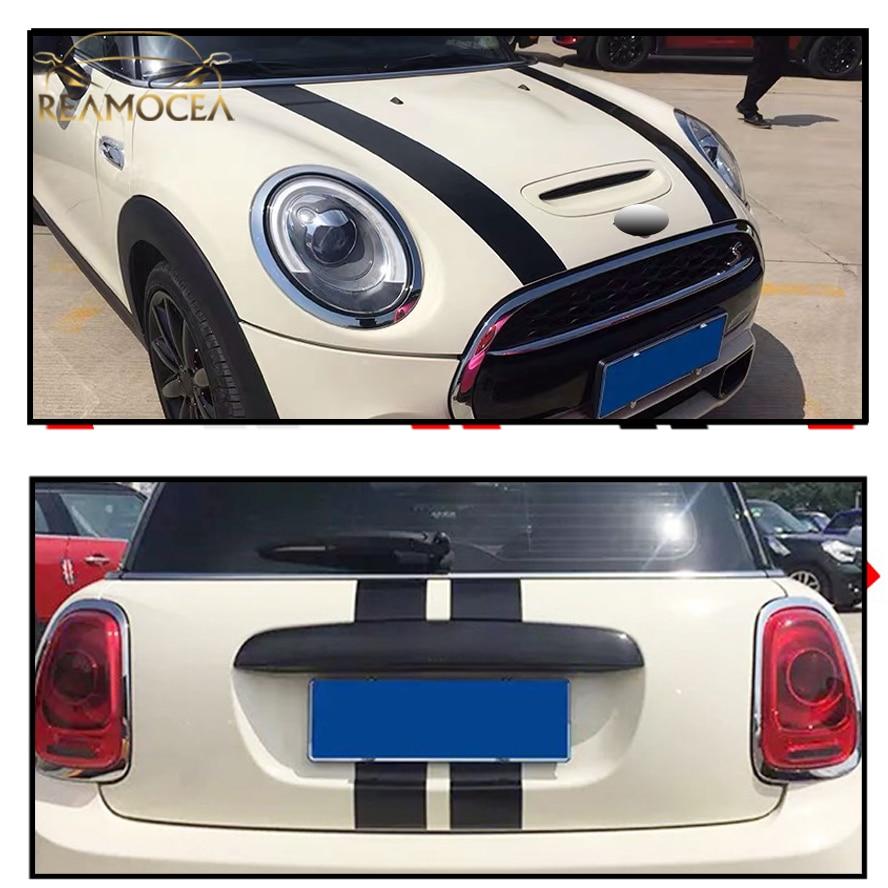 Reamocea 2 шт. dWm2754536 Черный Красный винил капот автомобиля полосы наклейка капота Обложка Наклейка Подходит для BMW MINI Cooper R50 R53 R56 R55