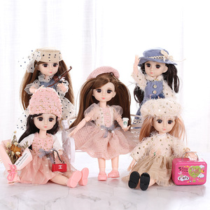 1/6 BJD 30CM Bjd Doll 23 Joints Makeup Dolls Full Set With Fashion Handmade Clothes Hat Shoes Best Gifts Beauty DIY Toy For Girl