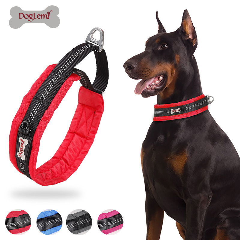Comfortable Dog Training Neck Ring Pet Traction Collar Proof Punch Dog Cable Case Relaxation Training Dog P Pendant Collar