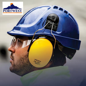 Portwest PW55 Endurance Visor Helmet  ABS Work Hard Hat with Retractable Clear Anti-fog Lens Safety Working Protective Helmet