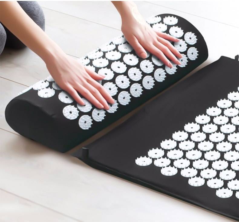 Non-Slip Acupressure Cushion Massage Mat Body Pain Spike Fitness Pilates Exercise Pillow Yoga Mat Gift Bag Applicator 17
