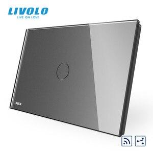 Image 5 - Livolo US C9Standard مفتاح حائط يعمل باللمس ، مقاطعة مع مؤشر LED ، جهاز التحكم عن بعد ، لوحة زجاج كريستال