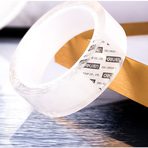 1 2 3 5 M Transparent Tape Double Sided Face Nano Reusable Acrylic Stickers Scotch Waterproof Adhesive Cleanable Gadgets Plaster