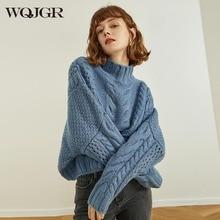 Womens Sweaters 2020 Winter Acrylic Sweater Women Pullovers Turtleneck Long Sleeve Knitted Short Sweater