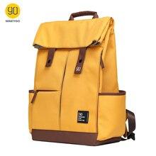 Ninetygo 90fun faculdade adolescente portátil mochila moda lazer à prova dunisex água saco de escola computador unisex casual 15.6 polegada