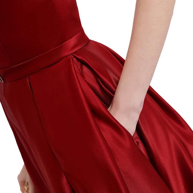 Vestido de noche de talla grande con abertura larga 5