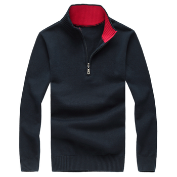 high quality warm big horse half zipper cotton Stand-up collar sweater jersey Jumper hombre pull homme men Knitted sweaters big stand up 2019 05 23t20 00