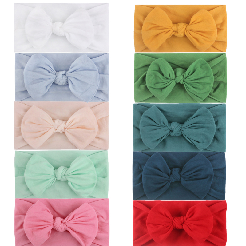 10 шт., украшение для детей, повязка на голову, повязка для малышей ленты для волос Детские повязка на голову с бантом для девочек, дизайн «зая...