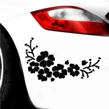 Car Sticker Flowers Car Vehicle Body Bumper Window Reflective Decals Sticker Decoration Auto Tuning Styling 1