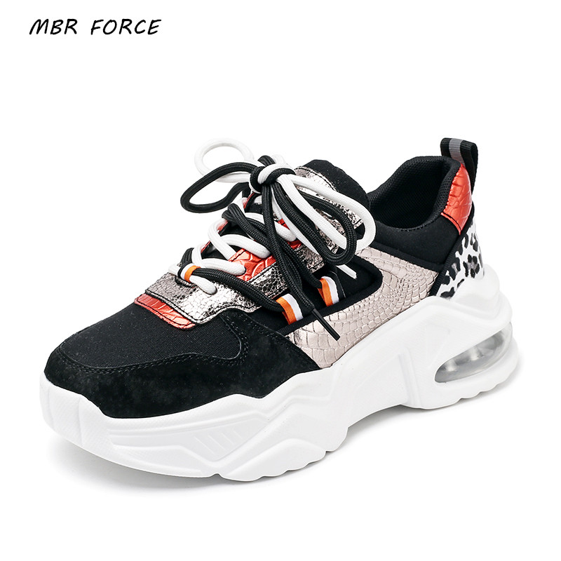 MBR FORCE 2020 New Spring And Autumn Women's Sneakers Thick Bottom Vulcanized Shoes Fashion Casual Breathable Women's Sneakers