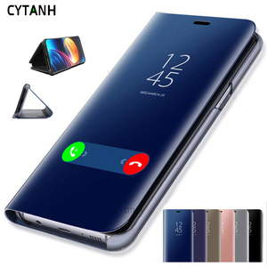 Smart Leather View Case for Samsung Galaxy S8 S7 Edge S6 S6edge Mirror Flip Stand Cover for Samsung S 8 7 6 Edge Plus Case Coque