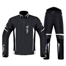 Мотоциклетная куртка для мотоциклистов+ брюки, костюм, водостойкая куртка для мотоциклистов, мотоциклетная куртка для езды, Мужская мотоциклетная защита