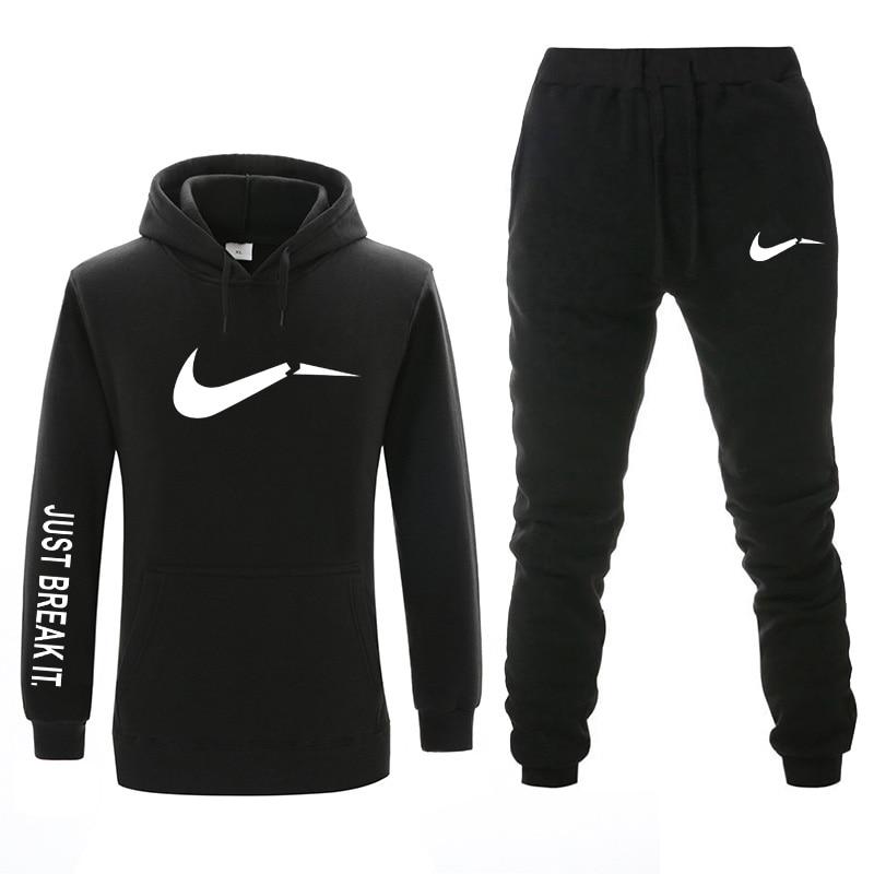 2019 New Brand Hoodie Suit Fashion Winter/autumn Sportswear, Sweatshirt + Sweatpants Men And Women Clothing Two-piece Sportswear