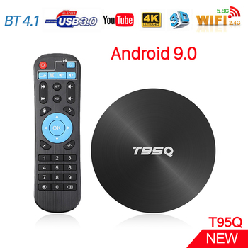 T95Q Android TV Box S905X2 Quad Core 4GB RAM 32GB/64GB/ ROM USB 3.0 BT 4.1 Android 9.0 2.4G/5.8G Wifi Smart 4K H.265 Set Top Box